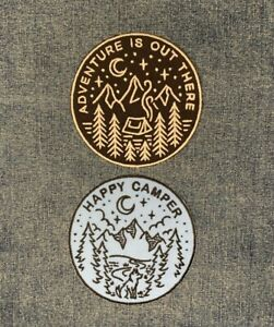 Adventure Awaits Happy Camper Summer Camping Embroidered Fabric Patch