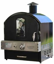 Pacific Living Black Powder Coated Outdoor Pizza Oven PL8BLK