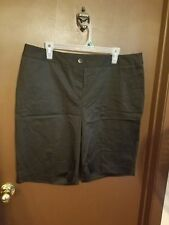 Womens black stretch shorts by TALBOTS  Size 16