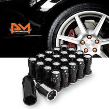 M12X1.5 Silver JDM Closed End Lug Nuts+Spline Locks+Key+Extension 22mmx45mm 20Pc