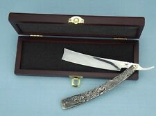 """Stainless Steel Barber Straight Razor Shaver """"Sweeney Todd""""+Gift box+Strop cloth"""