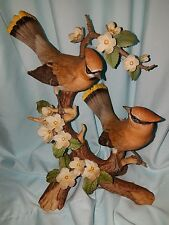 homco home interior figurine  porcelain waxwing majesty