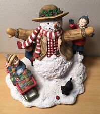 1998 Weekend Play Sherri Buck Baldwin 1st Edition #4 Snowman Christmas Figurine