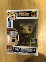 Movies Back To The Future Marty Checking Watch 2020 SDCC Exclusive Funko Pop