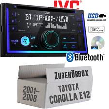 JVC Autoradio für Toyota Corolla E12/120 CD Android Apple MP3 USB Einbauset