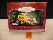 Hallmark Christmas Keepsake Ornament Die Cast Metal TONKA ROAD GRADER  1998