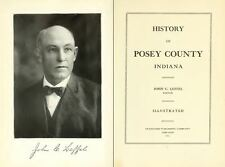 1913 POSEY County Indiana IN, History and Genealogy Ancestry Family Tree DVD B36