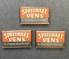 Vintage Speedball Calligraphy Pen Nib Tips in Boxes: B-3,C-3, C-4.
