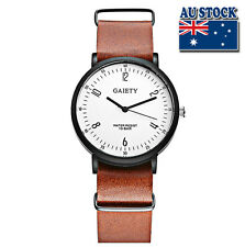 Wholesale Hot Brown Leather Luxury Men's White Dial Quartz Sports Wrist Watch