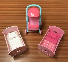 Cup Cake Early Learning Centre Dolls Accessorises Pushchair And Two Cribs