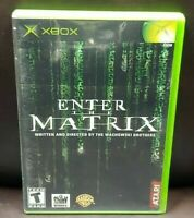 Enter The Matrix -  Microsoft Xbox OG Rare Game Complete Working Tested