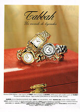 PUBLICITE ADVERTISING 124  1995  TABBAH   collection montres