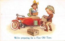 POSTCARD  CHILDREN  MOTOR  BIKE  Related  Preparing  for  a fine old  time
