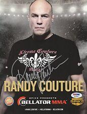 RANDY COUTURE SIGNED AUTO'D 8X10 PHOTO PSA/DNA UFC 15 28 43 44  BELLATOR PROMO