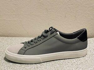 VINCE Men's Fulton Low Top Leather Gray Sneaker Size US 10.5 M (MSRP $195)