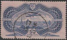 "FRANCE AVION N° 15 "" CAUDRON SIMOUN 50F BURELAGE ROSE "" OBLITERE A VOIR  K321"