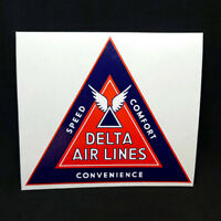 DELTA Airlines Vintage Style 1930's Decal / Vinyl Sticker, Luggage Label