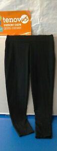 WG697 Mint Velvet Black Wide Waist Leggings Size Medium Short