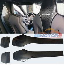 Carbon Fiber Seat Back Backseat Trim Covers 4 PC For BMW F80 M3 F82 M4 14UP b298