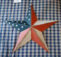 "Rustic Primitive RUSTY Tin 12"" Distressed AMERICANA Barn Star Country Farmhouse"
