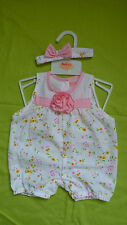 Cotton Blend Floral Outfits & Sets (0-24 Months) for Girls