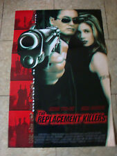 THE REPLACEMENT KILLERS - MOVIE POSTER WITH CHOW YUN-FAT AND MIRA SORVINO