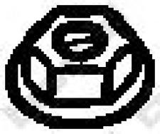 Mutter, Abgaskrümmer für Abgasanlage BOSAL 258-047