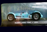 FANGIO COLLECTION - TALBOT LAGO T26C (1951) Diecast 1:43 La Nacion ARGENTINA