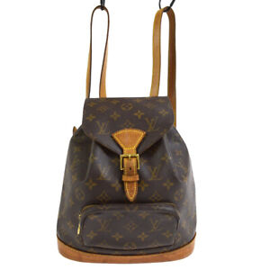 LOUIS VUITTON MONTSOURIS MM BACKPACK BAG PURSE MONOGRAM M51136 gc 40639