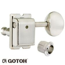 NEW Gotoh SD91-05M STAGGERED Post Vintage Tuners for Fender Strat/Tele - NICKEL