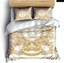 Versace double duvet cover set 100% cotton pillowcase comforter face bed cover
