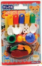 Set of 10 IWAKO Japanese Eraser / KITCHEN ERASER SET ON CARD Kid Toy S-1839x10