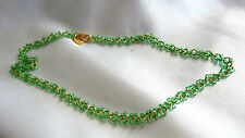 Phillip Bloch Goldtone Green Beaded Necklace