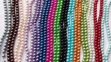 140 Glaswachsperlen 6 mm zum.fädeln basteln Schmuck Perlen 26 Farben Dekoperlen