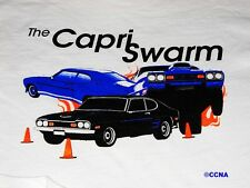 Ford Capri Swarm T-Shirt  with Racing Show Cars Autocross 100% Pre-Shrunk Cotton