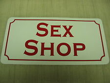SEX SHOP Sign Metal Dance Club Mens Man Cave Bar Beer Style Adult Novelty Womens