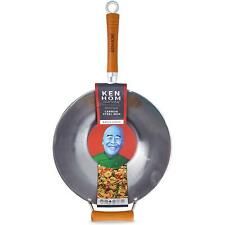Ken Hom Traditional Excellence Carbon Steel Wok - Suitable For Induction - 32cm