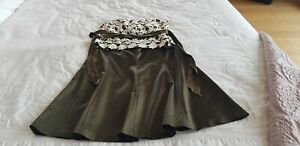 COAST SKIRT AND MATCHING TOP - OLIVE GREEN FORMAL WEAR