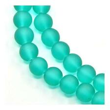 Glass Round Beads 8mm Teal Green 100+ Pcs Frosted Art Hobby DIY Jewellery Making