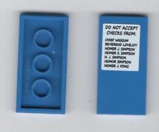 LEGO Blue Kwik-E-Mart 2x8 Smooth Plate - Do Not Accept Checks - Simpsons Set.