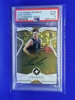 2018-19 Opulence Luka Doncic Gold #106 On Card Auto 5/25 RC PSA 9 POP 1 (1/1)