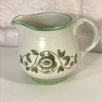 "1960's Mission Verde Poppytrail 3 1/2"" Creamer Avacado Green Floral Vines"