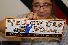 Yellow Cab 5c Cigar Tobacco Gas Oil Porcelain Metal Sign