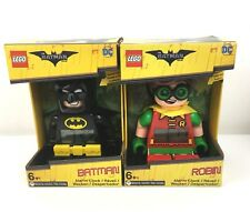 Lego Batman + Robin Figure Alarm Clocks The Batman Movie DC - Free Postage