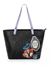 Disney Parks Loungefly Haunted Hitchhiking Ghost Patches Purse Tote Bag