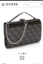 Genuine BNWT GUESS Cross Body Bag Signature Logo Wallet Chain RRP £125