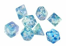 Sirius Emerald Waters Blue Green 7 Dice Set + Blue d20 D&D dungeons dragons Z