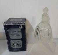 """Goebel Crystal Glass Large Bell Child Kneeling Praying 6.5"""" NIB 1978 Vintage"""