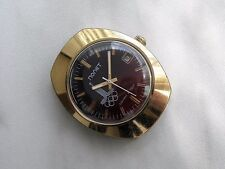 Rare POLJOT Gold-Plated watch tonneau Soviet Russian 1980 Moscow Summer Olympics