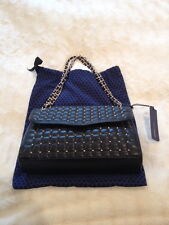 NWT Rebecca Minkoff Quilted AFFAIR Pyramid with Studs Black and Gold Handbag Bag